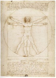 Study of proportions from Vitruvius's De Architectura